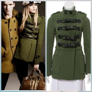 COMING SOON Burberry Green Toggle Jacket XS